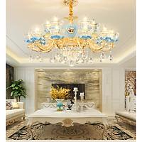 Đèn chùm PGT-DC10 pha lê trang trí nội thất sang trọng 15 tay - kèm bóng LED chuyên dụng