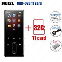 RUIZU D22 MP3 Player Reproductor 8GB Bluetooth-compatible Music Player Support TF Card Recording E-Book Pedometer Portable Audio Player Built-in Speaker HiFi Lossless Mini Walkman