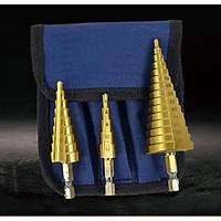 Bộ 3 mũi khoan tháp phủ titanium 4-32mm -hàng chính hãng