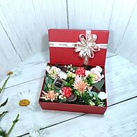 Hộp quà hoa hồng, hộp đựng quà tặng đẹp 23x17x7cm + Tặng thiệp - HQ18