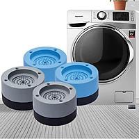 Đế chống rung máy giặt, chân máy giặt chân bàn 4 miếng cao su cao cấp, chống rung chống ồn chống trơn trượt (Giao màu ngẫu nhiên)