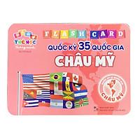 Thẻ Học Song Ngữ Cho Bé Nhận Biết Quốc Kỳ Của Các Nước Châu Mỹ Bộ 35 Thẻ - Thẻ Học Thông Minh