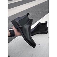 Giày Boot Nam Da PU Chống Bong Tróc Tăng Chiều Cao 5cm BDN01
