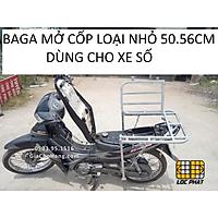 Baga giá chở hàng xe máy có mở cốp LOẠI NHỎ 50.50cm lắp cho xe Số ( Ngoại trừ xe Dream)