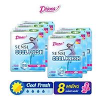 Bộ 6 Gói Băng Vệ Sinh Diana SenSi Cool Fresh Siêu Mỏng Cánh (8 Miếng/Gói)