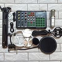 Trọn bộ HÁT LIVE STREAM sound card S8 Bluetooth Auto tune và micro BM 900 đủ phụ kiện kẹp bàn ,màng lọc âm ,tai phone HÀNG CHÍNH HÃNG