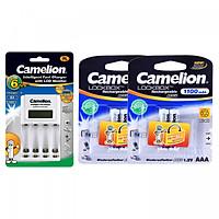 Bộ sạc pin Camelion BC1012 + 4 pin sạc AAA 1100mAh - Hàng nhập khẩu