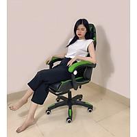 Ghế gaming kèm đệm massage - Giao Màu Ngẫu Nhiên - Hàng Nhập Khẩu