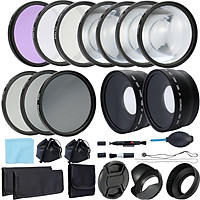 Professional Lens and Filter Bundle Complete DSLR/SLR Compact Camera Accessory Kit Photography Accessories 58mm