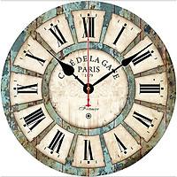 Đồng hồ treo tường Vintage Phong cách Châu Âu size to 30cm DH34