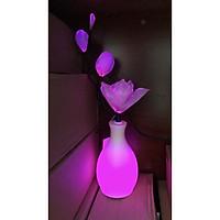 Bình hoa đèn led sợi quang đổi màu - bình hoa trang trí - bình hoa mộc lan cắm điện 220V - BH197M