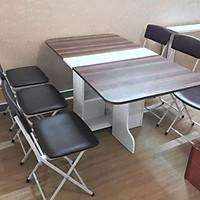 Bộ bàn ăn 4 ghế thông minh xếp gọn BXG1 - Nhiều lựa chọn màu