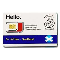 Sim du lịch Sờ cốt len -  Scotland 4g tốc độ cao