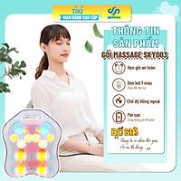 Gối Massage Hồng Ngoại đèn led 7 màu MODEL 2021 - Giúp Mát Xa Vai, Cổ, Gáy, Cột Sống Lưng Đa Năng Kết Hợp Với Chế Độ Rung Và Nhiệt - Chất Liệu vải nỉ cao cấp