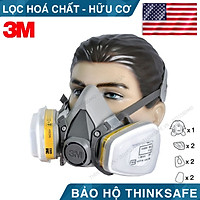 Mặt nạ phòng độc 3M 6200 bộ 7 món sử dụng phin 3M 6003 - mặt nạ phòng dịch, chống bụi, chống độc phun sơn, hàn xì - lọc hơi vô cơ, hữu cơ