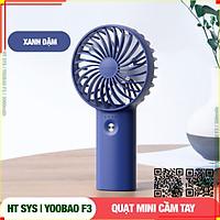 Quạt mini cầm tay HT SYS- Yoobao F3 -Cổng sạc USB- 3000mAh-03 cấp độ gió - 16 giờ sử dụng - Hàng Nhập Khẩu