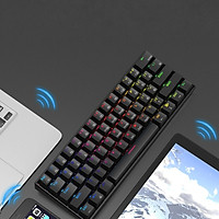 Bàn Phím Cơ mini không dây Bluetooth Ajazz Led RGB - Hàng nhập khẩu