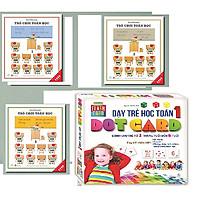 Combo TRÒ CHƠI TOÁN HỌC TẬP 1+2+3 + Flashcard - Dạy Trẻ Học Toán Dotcard Tập 1