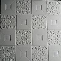 10 tấm xốp dán tường giả da trắng