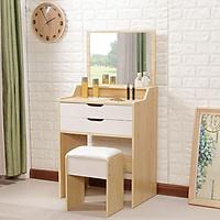 Bộ bàn ghế trang điểm kèm gương, bàn trang điểm BAH047 Giao màu ngẫu nhiên