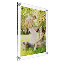 Acrylic Photo Frame Poster Wall Picture Holder Perspex Clear Display A4