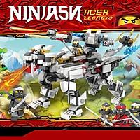 Đồ chơi Lắp ráp xếp hình non Lego ninjago Hổ Bạc cổ đại phun lửa của ninja đất cole 803 chi tiết