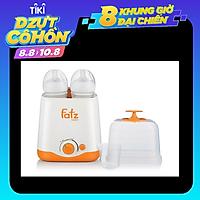 Máy hâm sữa 2 bình cổ rộng Fatz Baby tặng xe trượt đà cho bé VBC-123-6 (ngẫu nhiên)
