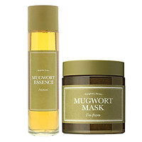 Combo Làm Dịu, Phục Hồi Da Từ Ngải Cứu I'm from (Mugwort Essence 160ml + Mugwort Mask 110g)