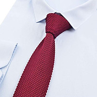 Men's Fashion Knitted Solid Necktie Casual Narrow Skinny Woven Tie