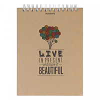 Notebook - Live In Present And Make It Beautiful (Gáy Lò Xo)