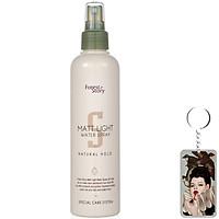 Keo xịt tạo kiểu tóc mềm Welcos Matt Light Water Spray 252ml tặng móc khóa