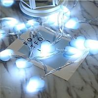 Đèn led dây trang trí trái tim vải tình yêu lãng mạn