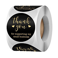 Thank You for Supporting My Small Business Sticker, Thank You Stickers, 500 Labels Per Roll