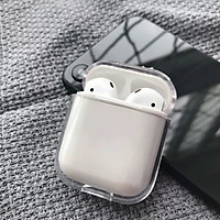Ốp trong suốt cứng Logo New Pop cho Airpods