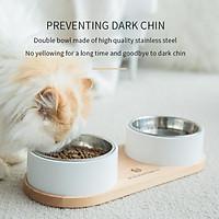 Xiaomi Youpin AMEIFU Bát cho chó bằng thép không gỉ có thể tháo rời Dụng cụ uống nước cho mèo dễ dàng làm sạch khay đựng thức ăn cho vật nuôi đôi bát đồ dùng cho chó và mèo chuyên nghiệp