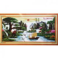 Tranh thêu Thuận Buồm Xuôi gió (189 x 92 cm)