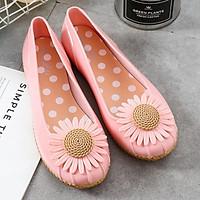 Giày búp bê nữ họa tiết hoa cúc Tizinis BB01 chống trơn trượt