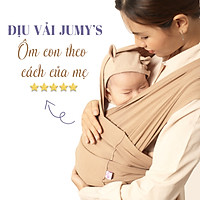 Địu vải Jumys, địu em bé sơ sinh từ 0-36 tháng tuổi, chất cotton mát mịn, thoáng khí, dễ sử dụng - Màu Nâu