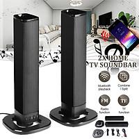 2PCS/SET Home TV bluetooth Sound Bar Stereo Speakers Detachable Soundbar Wireless