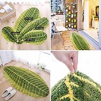 Thảm chùi chân đẹp , thảm trải bếp , thảm chân giường,thảm chiếc lá thấm nước chống trơn ( cam kết hàng chất lượng)