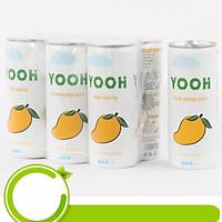 Nước ép Xoài từ trái cây tươi YOOH - Lốc 6 lon (240ml/lon)