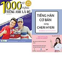 Combo Sách 1000 Từ Vựng Tiếng Anh là Đủ và Tiếng Hàn Cơ bản Cùng Cheri Hyeri
