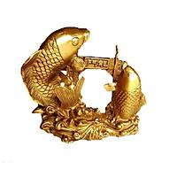 Tượng cá chép vượt Vũ Môn hóa rồng bằng đồng thau cỡ nhỏ