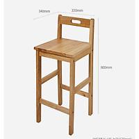 Ghế quầy bar lưng tựa gỗ cao su - TC205