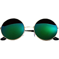 Men Women Unisex Sunglass UV400 Metal Round Eye Glasses Retro Spectacles Optical