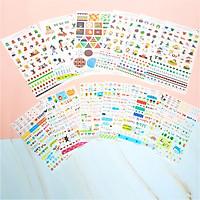 Combo 2 Bộ 6 Tấm Sticker Trang Trí TZ-0045 Và Hong-E & Dding-Gu FF013