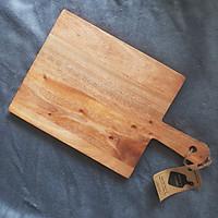 Thớt gỗ chữ nhật tay cầm A - cạnh vuông 35 x 21cm CT21JPC