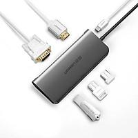 Cáp chuyển USB Type C to HDMI, VGA, USB 3.0 Chính hãng Ugreen 50319 hỗ trợ sạc USB C