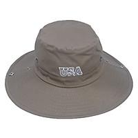 Nón tai bèo nam thêu chữ USA phong cách bộ đội, thiết kế vành to chống nắng tốt, chất liệu vải cotton tốt oát mềm mại, dễ thấm hút mồ hôi