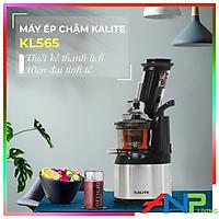 Máy ép chậm Kalite KL 565, công suất 240W, ống tiếp nguyên liệu size lớn, có dao cắt nhỏ hoa quả, có ống làm kem - Hàng chính hãng - Tặng 1 bình nước cao cấp
